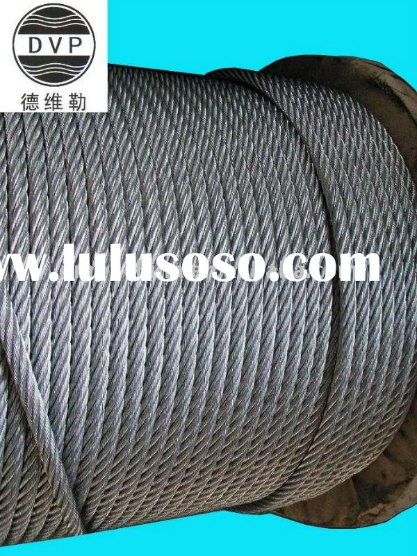 7x19/6x19+PP hot dip galvanized steel wire rope manufacturer from China