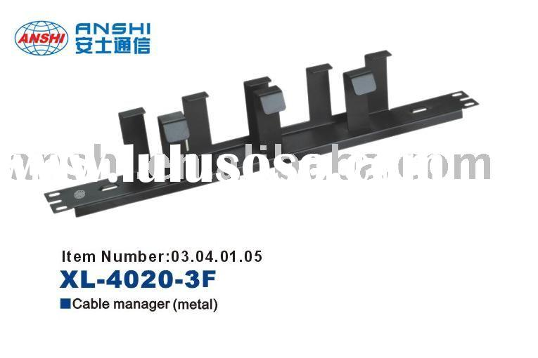 """ANSHI 19"""" Metal cable management with Plastic Wire Ring"""