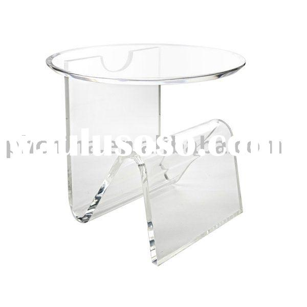 Round top acrylic dining table kitchen table flower table for Lucite kitchen table