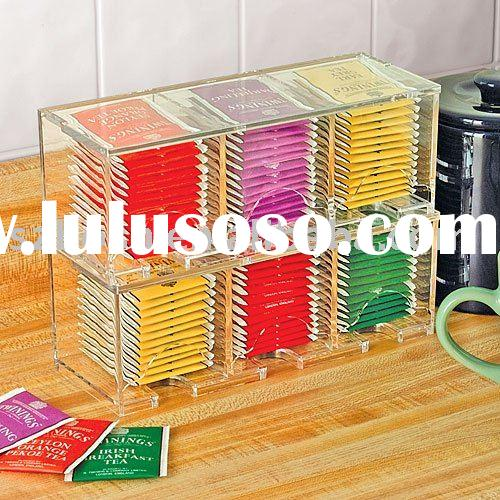 Acrylic Storage Box,Lucite Tea Bag Box,Plexiglass Tea Bag Holder,Acrylic Tea Bag Dispenser,Plastic B