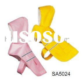 Adorable pet hooded raincoat with soft super fabric