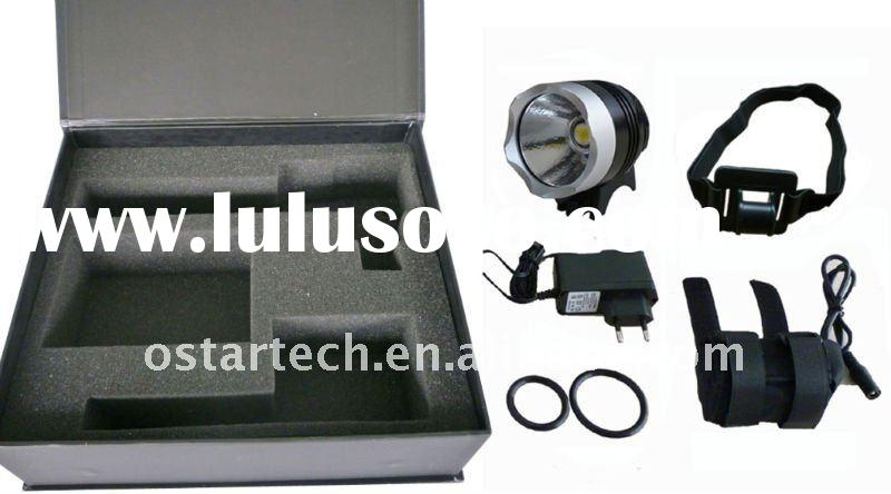 Aluminum led bicycle light/led headlamp with Super powerful waterproof