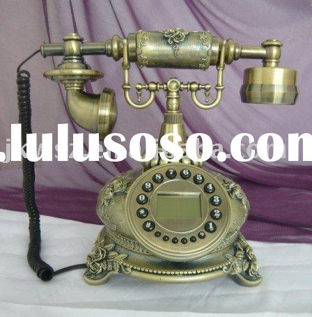 Antique Telephone with Rotary dial Key figures Clock display