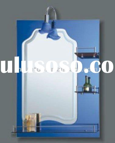 Bathroom Mirror  Shelf on Bathroom Wall Mirror With Shelves Light Bathroom Wall Mirror With