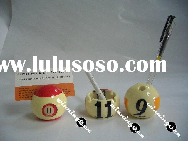 Billiard ball name card clip/pen holder/ashtray
