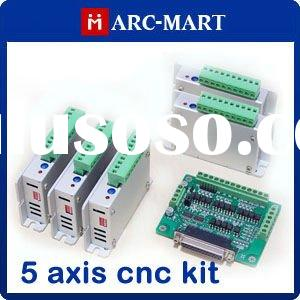 CNC Router/Milling kit 5 axis Two-Phase Stepper Motor Driver + 6 axis CNC interface board #UC120