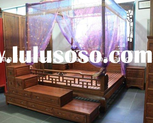 Canopy bed,Bedroom furniture,Wooden bed
