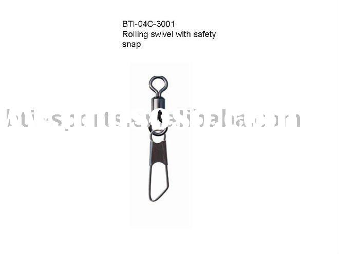 Carp fishing tackle--Rolling swivel with safety snap
