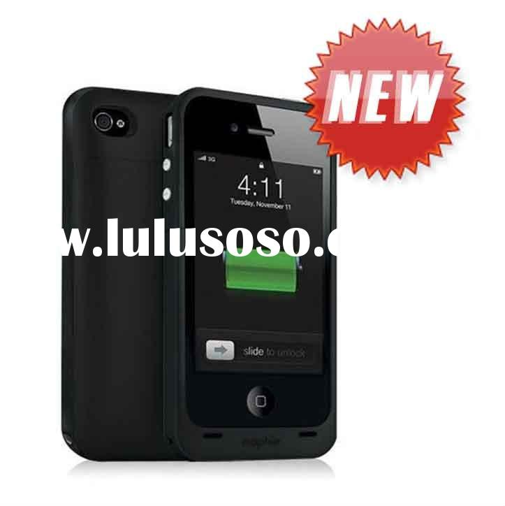 Christams gift 1500mAh Battery case for iphone4,external battery case, rechargeable battery case,