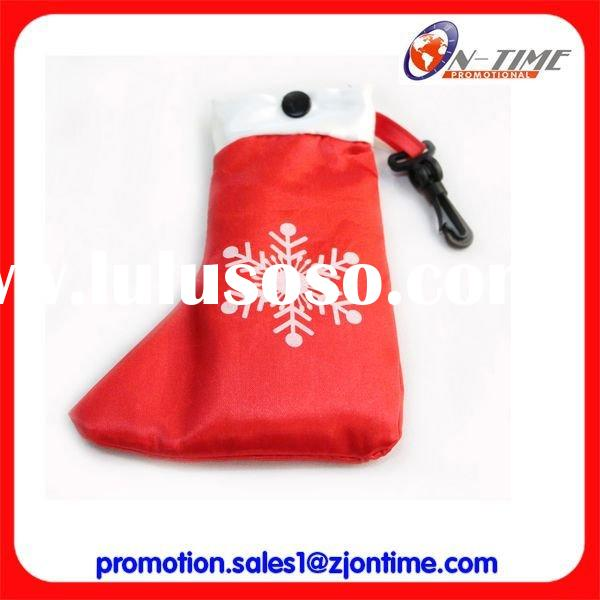 Christmas shopping bag/Santa boots shape shopping bag/Christmas promotional item