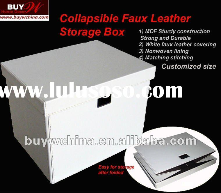 Collapsible storage box- Faux leather Home storage