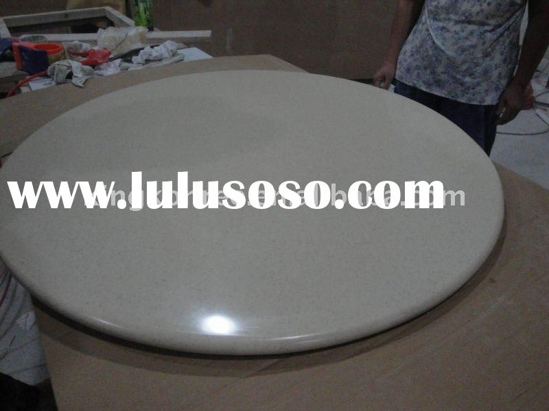 Corian acrylic solid surface round coffee table