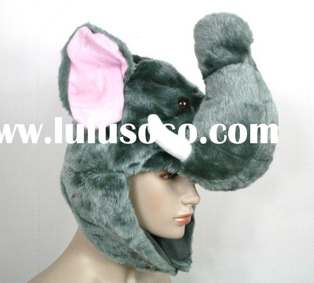 Cute Elephant Party Warm Costume Hat Mask Cap