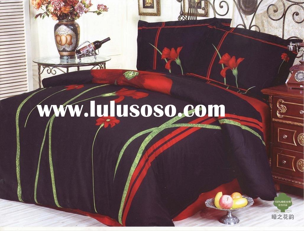 Dark colored rhyme bedding set/ bedding set/household textiles/cotton bedding
