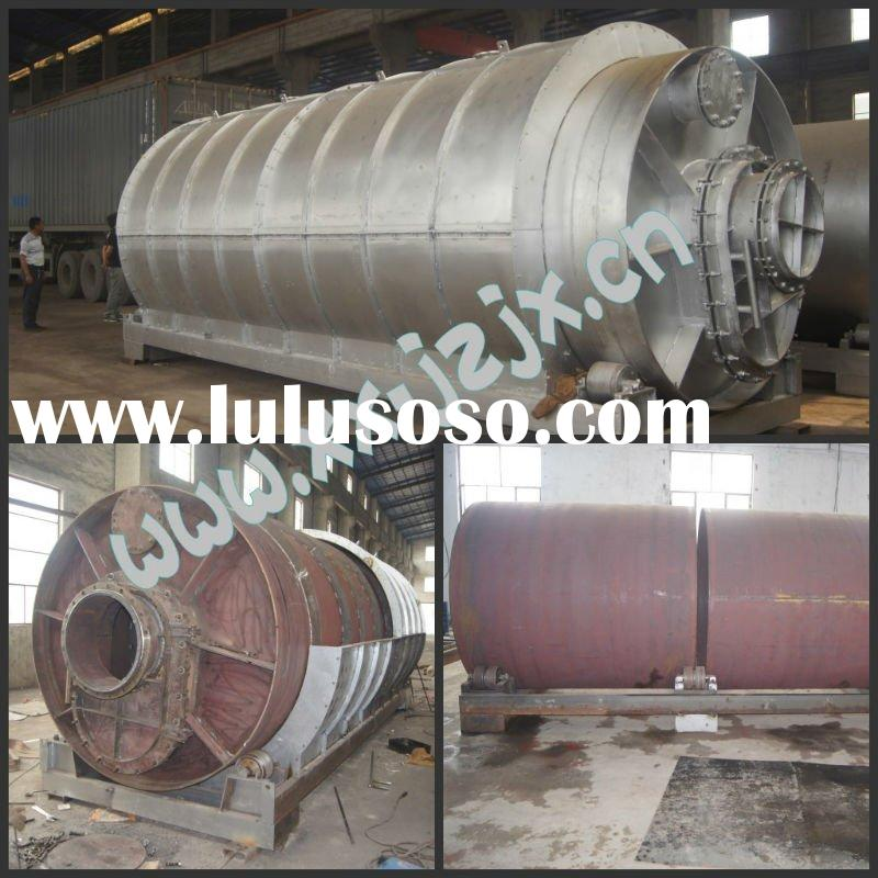 Direct heating used waste plastic recycling machine/plastic to oil machine