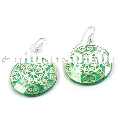 Earrings vintage resin woman fashion accessory promotional