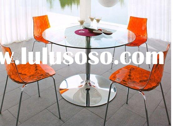 Elegant Glass Top Round Dining Table /DT-6002