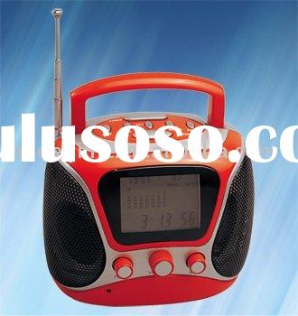 FM Portable Radio With LCD Alarm Clock,Digital Radio/Portable Radio