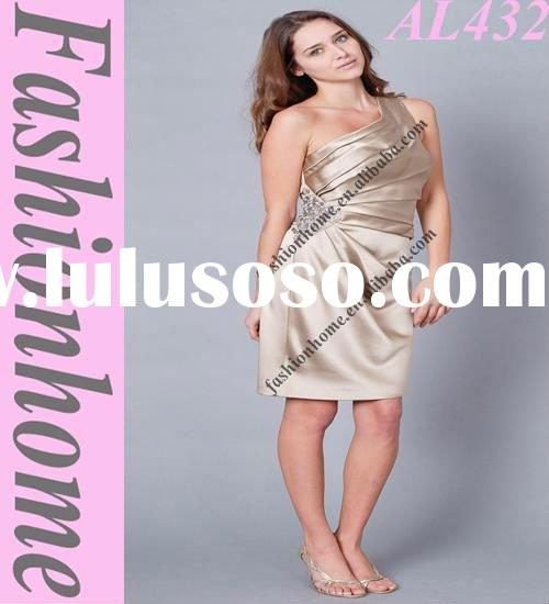 Fashion Lady dress, party evening gown,one shoulder office outfit AL432