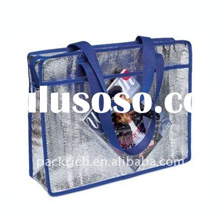 Fashion aluminium insulated cooler tote bag