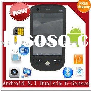 H6 Android 2.1 Dual Sim Cell Phone Mobile GPS Wifi TV