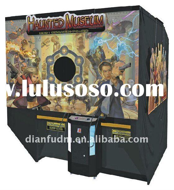 Haunted museum game console arcade video shooting simulator game machine