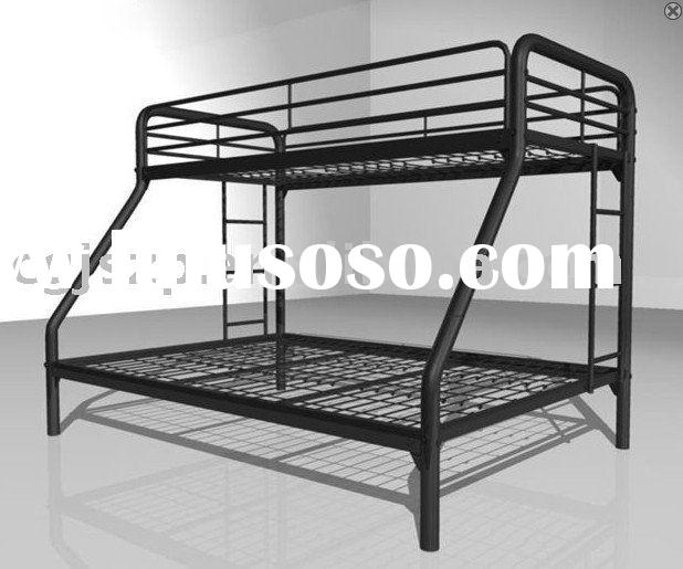 Heavy Duty Loft : Metal and wood twin futon bunk beds with ladders mbd