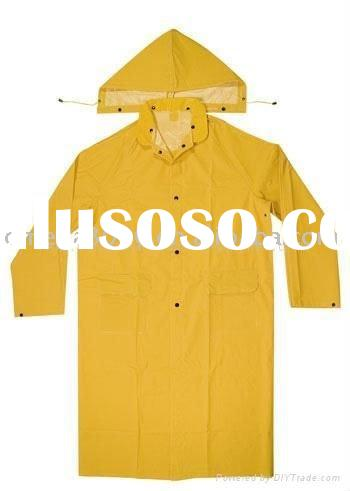 High Quality Long Rain Coat with Detachable Hood