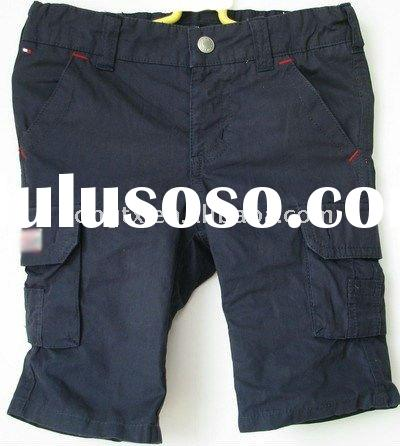 High quality short black men trousers pants