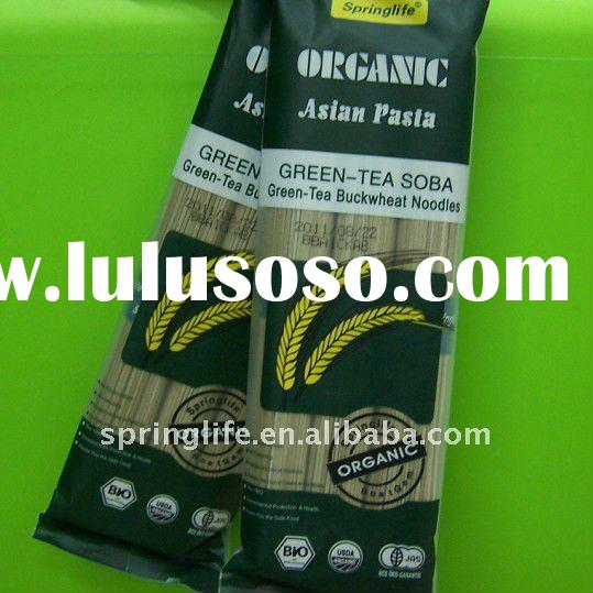 Hot sale Organic Green tea Soba Noodles