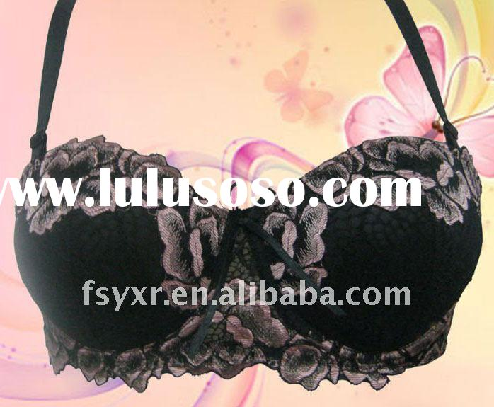 Hot sale design,charming moulded cup bra with panty 2012