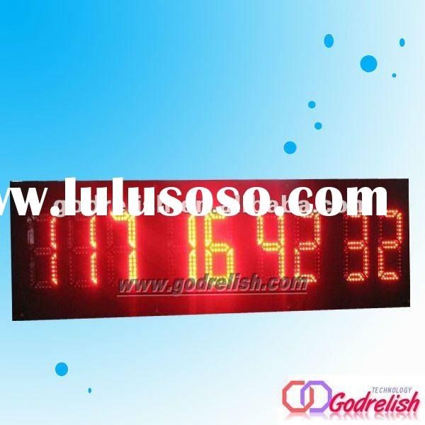 Large outdoor countdown clock