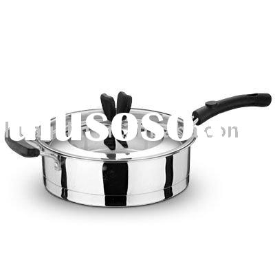 Love Kitchen STAINLESS STEEL DOUBLE FRY PAN(INDUCTION SUITABLE 0.5MM)