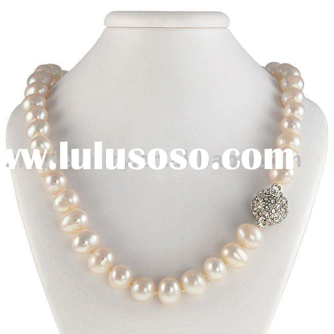 Maddy Emerson Freshwater White Pearl Necklace