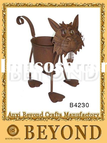 Metal cat flower pot ,plant stand