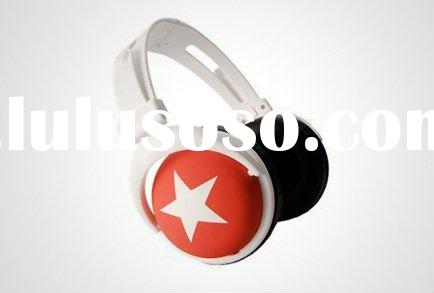 Mix Style Big Star Headphone,Stereo Headset For Youth,Fashion Music Earphone