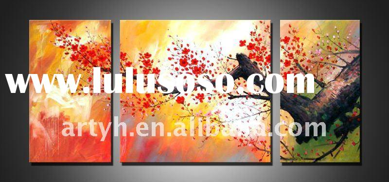 Modern flower canvas art