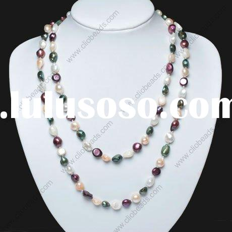 Multicolor Long Freshwater Pearl Necklace designs