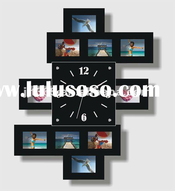 New design Photo frame wooden wall clock