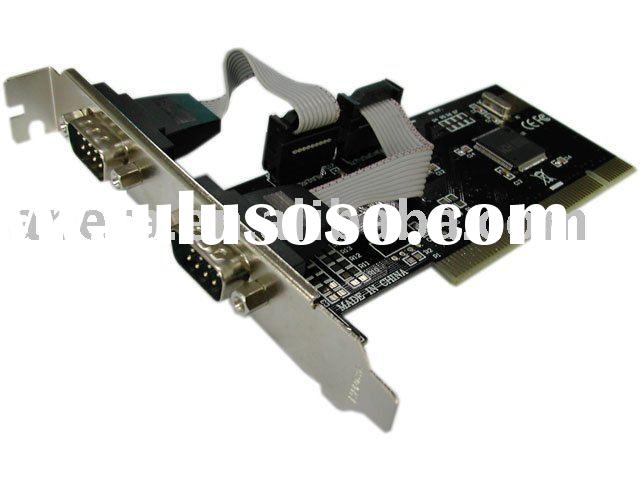 PCI to 2 Serial Port Card with Plug-and-Play Function, Supports PCI IRQ AE-IOP2S-S