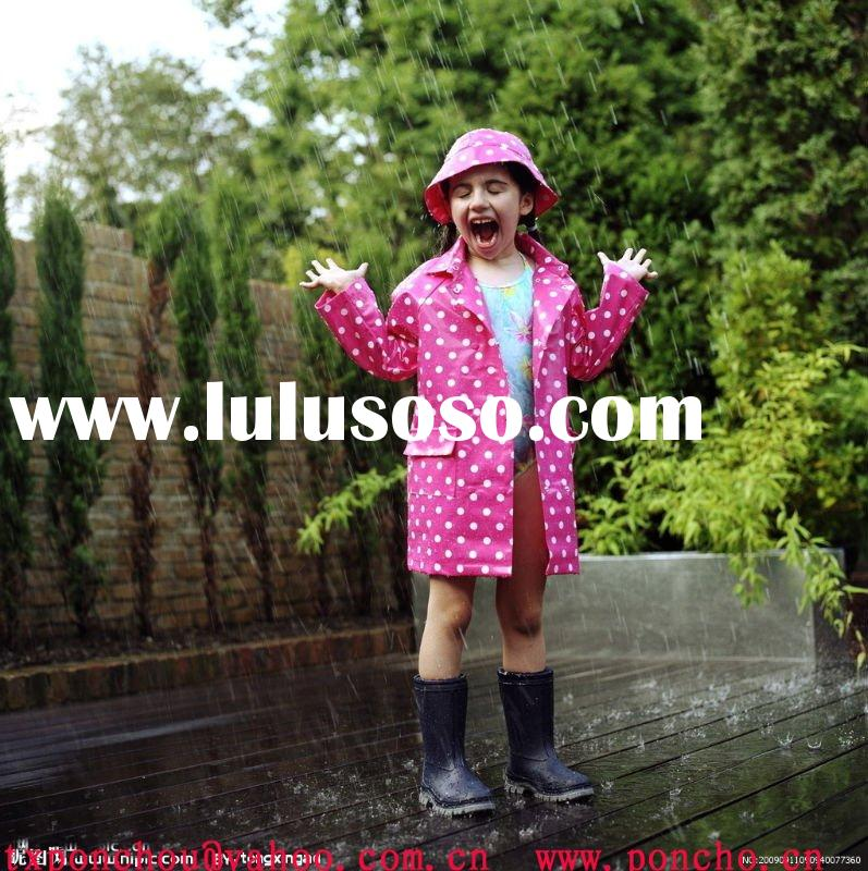 PVC Children Raincoat/kids rain coat/rain poncho/rainwear