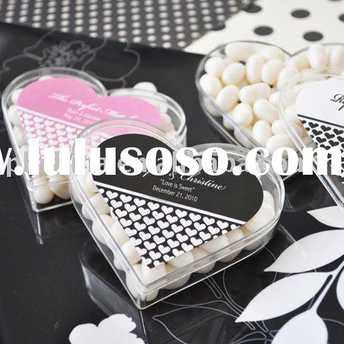 Personalized Heart Shaped Acrylic Favor Box,Gifts