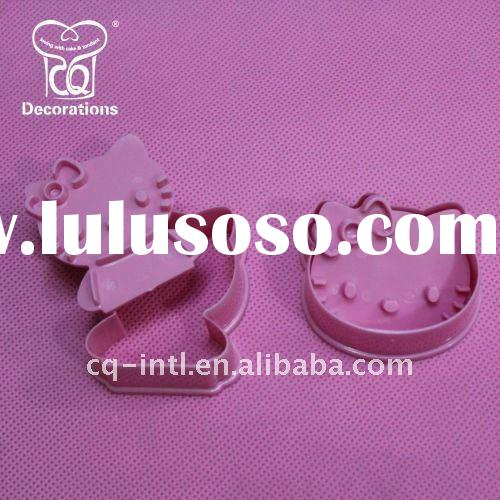 Pink Hello Kitty Plastic Cookie Cutter & Biscuit Cutter