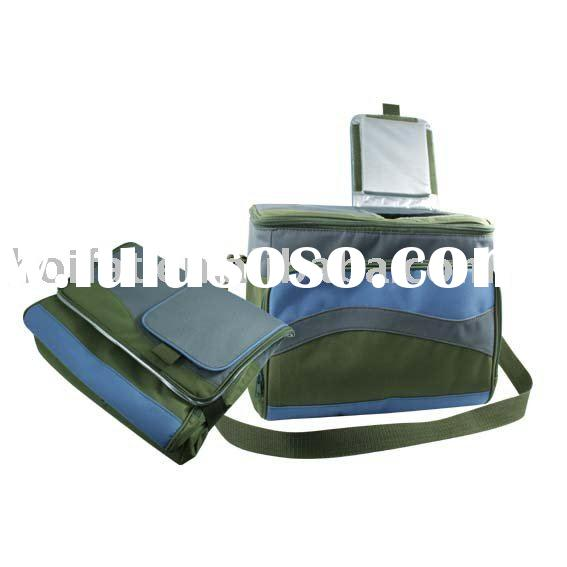 Polyester Cooler Bag Nylon Lunch Bag Fashion Cooler Case Printing Foldable Insulated Wine Bag Backpa