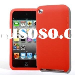 Premium Red Soft Gel Silicone Skin Case Cover for Apple iPod Touch 4G, 4th Generation, 4th Gen