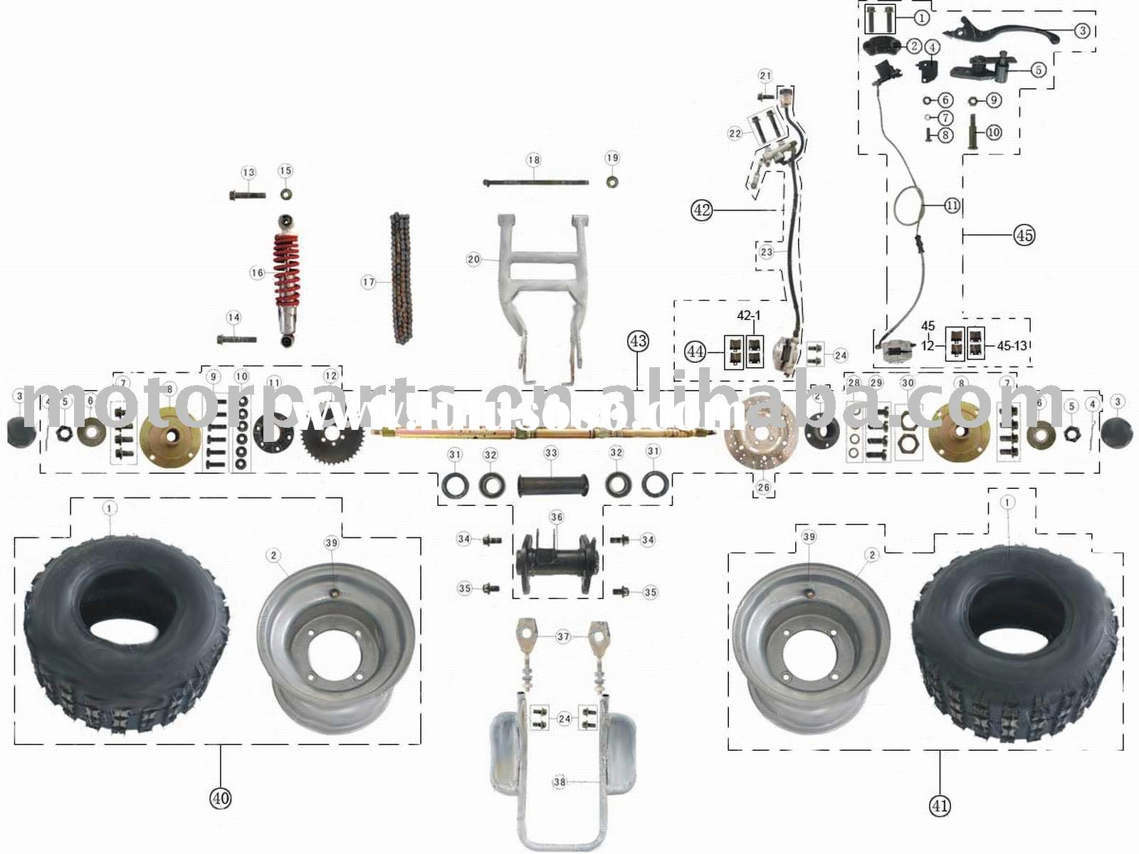 Rear Wheel Assy Atv 200cc Parts For Sale Pricechina Manufacturer Chinese 200 Wiring Diagrams 110cc