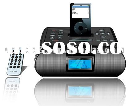 Stereo Speaker with LCD, Alarm clock, Bluetooth & FM for ipod/iphone/MP3/MP4 etc (New)