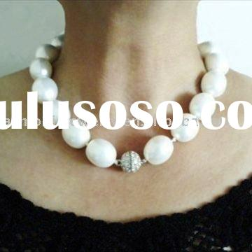 Super Lustrous South Sea Shell Pearl Necklace