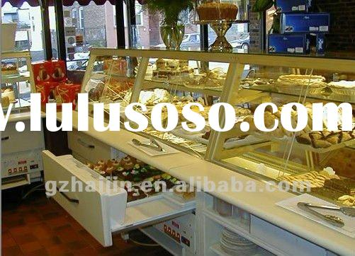 Top Counter Cake Showcase/Table Top glass display chiller/Marble Base Cake Display Cooler