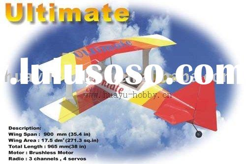 Ultimate EP rc airplane ARF balsa-made battery power remote control